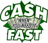 Advertising image saying cash when you need it fast