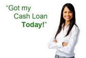 oung smiling lady with her arms folded saying got my cash loan today