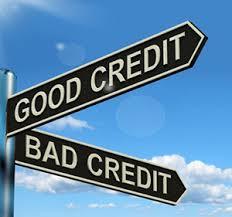 good credit bad credit sign post