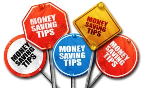 money saving tips, 3d rendering, rough street sign collection