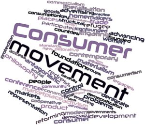 Abstract word cloud for Consumer movement