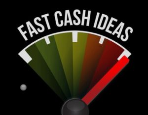 Fasf cash ideas curved over a petrol gauge