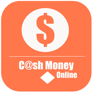 cash money online orange and white sign