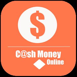 cash money online orange and white sign