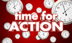 time for action clocks act now reminder