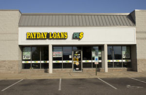 Payday Loans retail storefront
