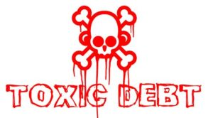 toxic debt sign